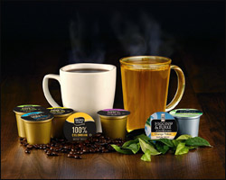 display coffee and tea products available for delivery to florida offices